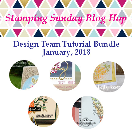 Stamping Sunday Design Team Tutorial Bundle January 2018