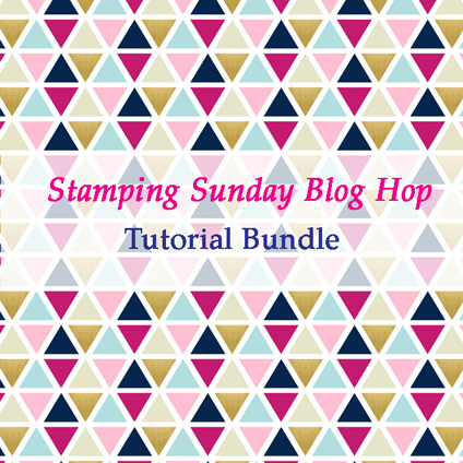 Stamping Sunday January 2018 Tutorial Bundle from theartfulinker.com