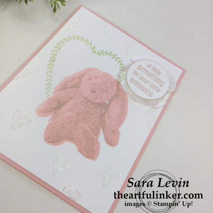 Sweet Little Something with Sure Do Love You - embossing paste hearts detail - from theartfulinker.com