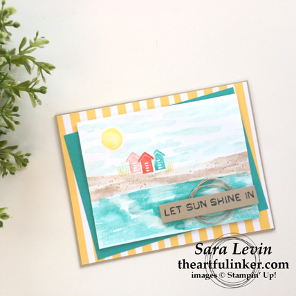 Waterfront Beach card from theartfulinker.com