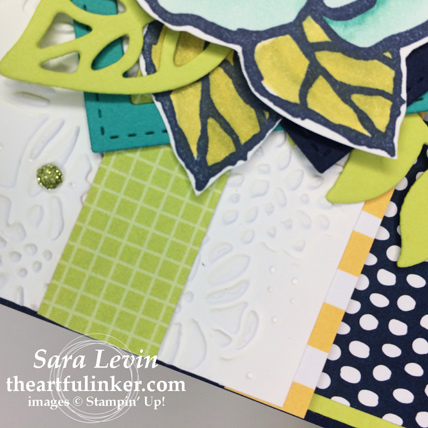 Beautiful Day for SIP136 - leaf and layering detail - from theartfulinker.com