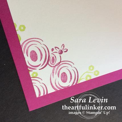 Creation Station blog hop celebrations of the heart Perennial Birthday wedding invitation - inside - from theartfulinker.com