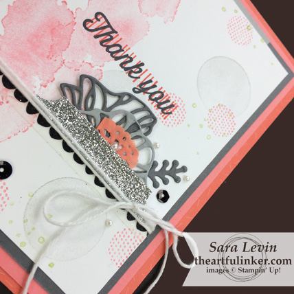 Eclectic Expressions with Tutti Frutti card thank you - eclectic expressions thinlits detail - from theartfulinker.com