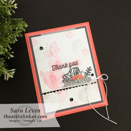 Eclectic Expressions with Tutti Frutti card thank you from theartfulinker.com