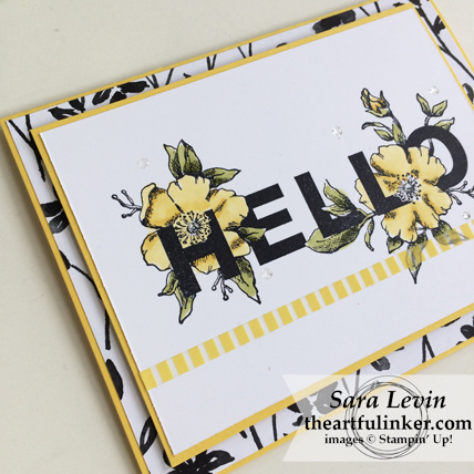 Floral Statements in Daffodil Delight card - angled view - from theartfulinker.com