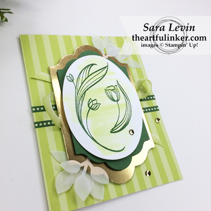 Lovely Wishes with Tutti Frutti card for St. Patricks day - angled view - from theartfulinker.com