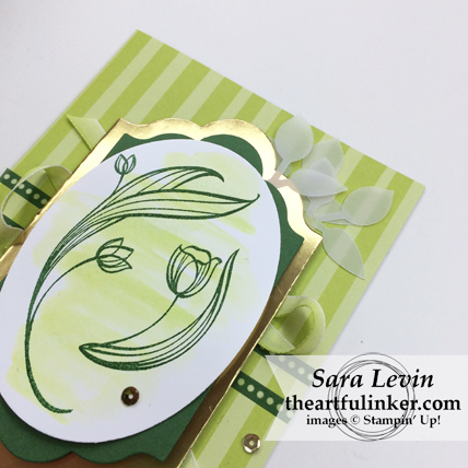 Lovely Wishes with Tutti Frutti card for St. Patricks day - detail - from theartfulinker.com