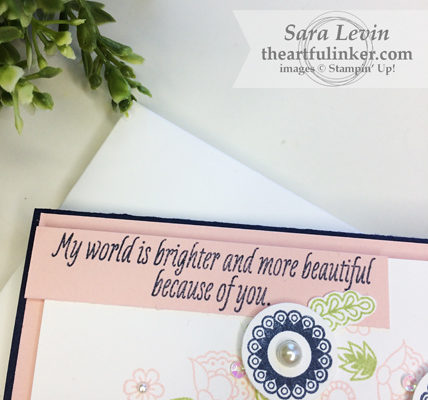 Paisleys and Posies wreath card sentiment from theartfulinker.com