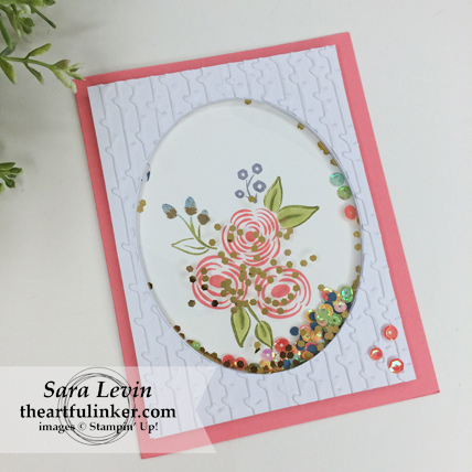 Stamping Sunday Blog Hop Lots of Happy Birthday Perennial Birthday Kit alternative card 2 - shaker card - from theartfulinker.com