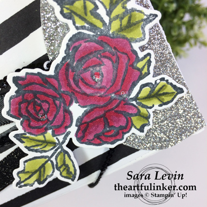 Stamping Sunday blog hop Petal Passion - Petal Palette Lots to Love Box purse flower detail - from theartfulinker.com