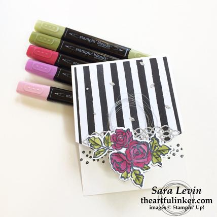 Stamping Sunday blog hop Petal Passion - Petal Palette card - from theartfulinker.com