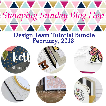 Stamping Sunday Tutorial Bundle February 2018 from theartfulinker.com