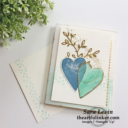 Sure Do Love You and Petal Palette card - perfect for Valentines Day, Wedding or Anniversary - from theartfulinker.com