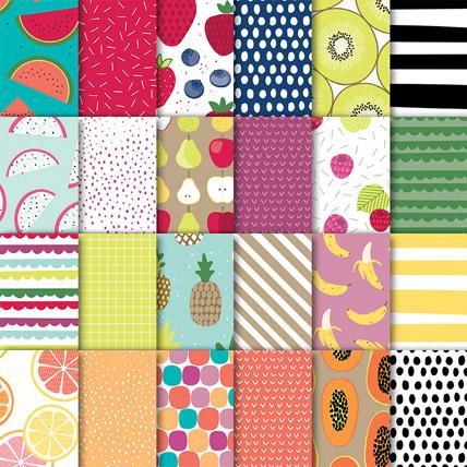 Tutti Frutti designer paper from theartfulinker.com