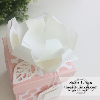 Gift Box with Tailored Tag Punch Flower - flower detail - from theartfulinker.com