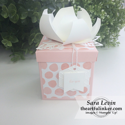 Gift Box with Tailored Tag Punch Flower from theartfulinker.com