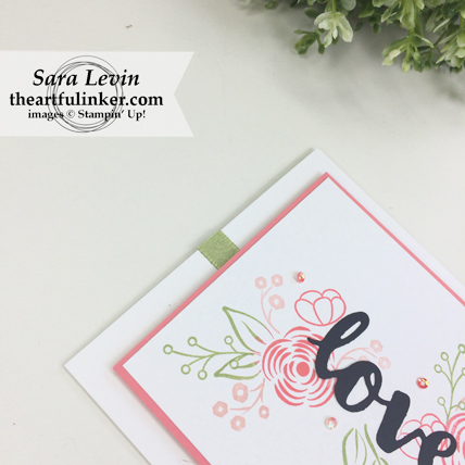 International Blog Highlights March 2018 Love Perennial Birthday card - detail 1 - from theartfulinker.com