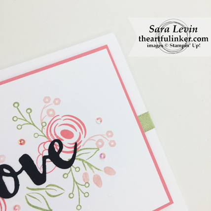 International Blog Highlights March 2018 Love Perennial Birthday card - detail 2 - from theartfulinker.com