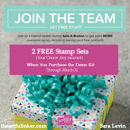 Join Stampin Up during Sale a Bration with theartfulinker.com