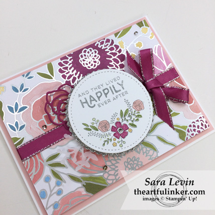 OSAT Blog Hop Happily Ever After Love You Still card - angled view - from theartfulinker.com