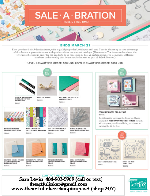 MORE Sale a Bration 2018 products for March 13 through 31 from theartfulinker.com. Shop with Sara Levin - http://bit.ly/ShopwithSara
