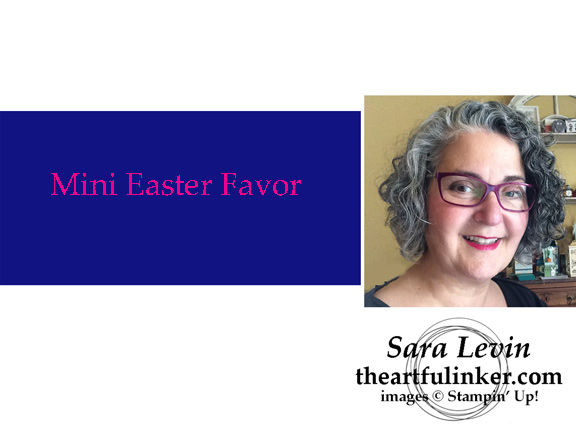 Mini Easter Favors Video from theartfulinker.com