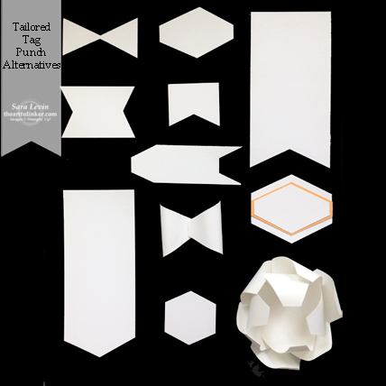 Tailored Tag Punch alternative shape chart provided by theartfulinker.com