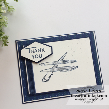 Stamping Sunday Blog Hop True Gentleman Truly Tailored card from theartfulinker.com