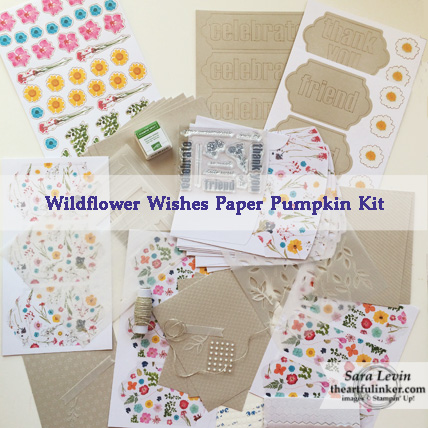 Wildflower Wishes Paper Pumpkin Kit from February 2018 - theartfulinker.com
