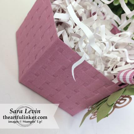 Window Box Easter Basket - basket weave detail - from theartfulinker.com