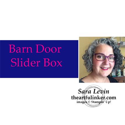 Barn Door Slider Treat Box Video from theartfulinker.com