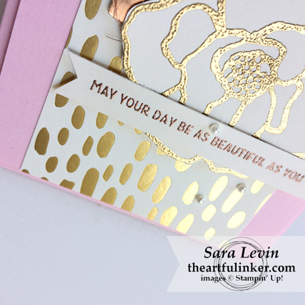Beautiful Day with Bundle of Love designer paper card - sentiment detail - from theartfulinker.com