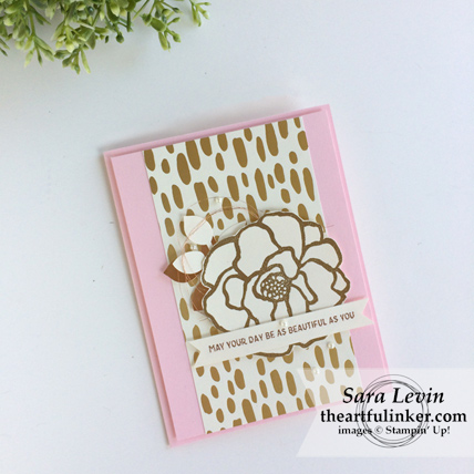 Beautiful Day with Bundle of Love designer paper card from theartfulinker.com