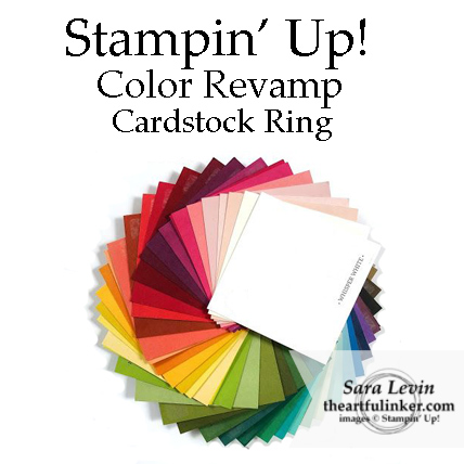 Stampin' Up! Color Revamp 2018 cardstock ring from theartfulinker.com