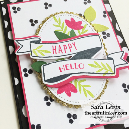 Creation Station Blog Hop Garden Party Banners for You card - front detail - from theartfulinker.com