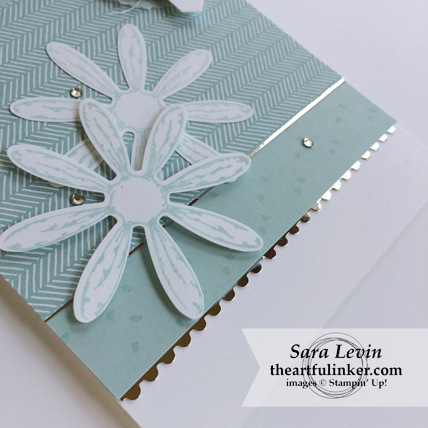 Daisy Delight just because card - daisy detail - from theartfulinker.com