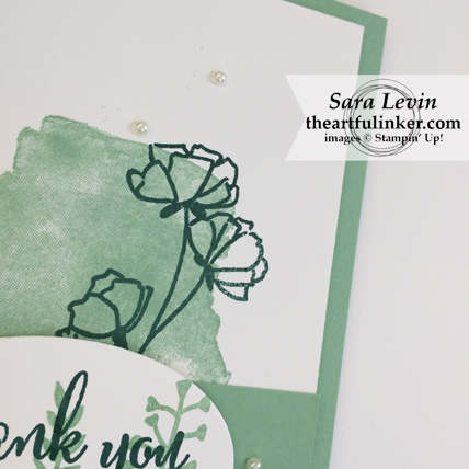 Love What You Do Thank You card - detail - from theartfulinker.com