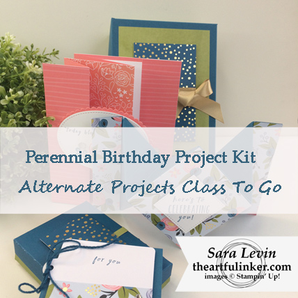 Perennial Birthday Project Kit Alternate Projects Class Kit - from theartfulinker.com