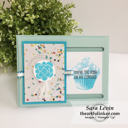 Picture Perfect Birthday Barn Door card with Sweet Cupcake from theartfulinker.com