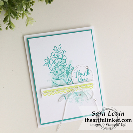 Southern Serenade Thank You in Bermuda Bay from theartfulinker.com