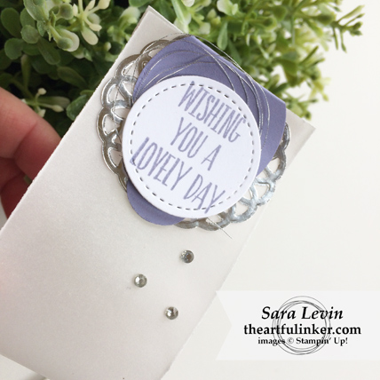 Stamping Sunday Blog Hop Lovely Wishes favor - detail - from theartfulinker.com