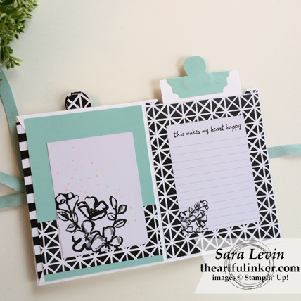 Stamping Sunday Blog Hop Memories and More Petal Passion mini album - top pocket - from theartfulinker.com
