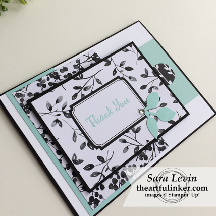 Stamping Sunday Blog Hop Memories and More Petal Passion card - angled view - from theartfulinker.com