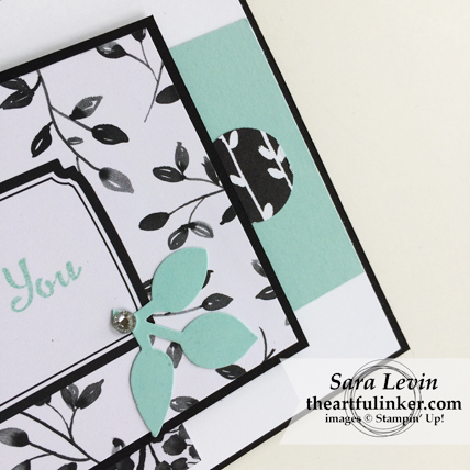 Stamping Sunday Blog Hop Memories and More Petal Passion card - embellishments - from theartfulinker.com