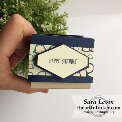 True Gentleman Birthday Gift Box - tailored tag sentiment detail - from theartfulinker.com