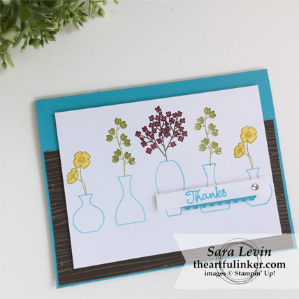 Varied Vases thank you card from theartfulinker.com
