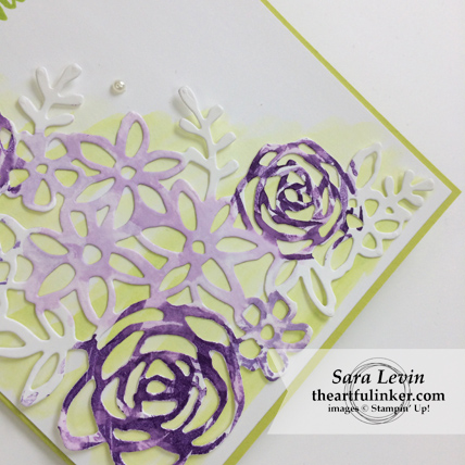 Abstract Impressions Royal Wedding inspired thank you card - die cut detail - from theartfulinker.com