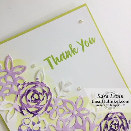Abstract Impressions Royal Wedding inspired thank you card - sentiment detail - from theartfulinker.com