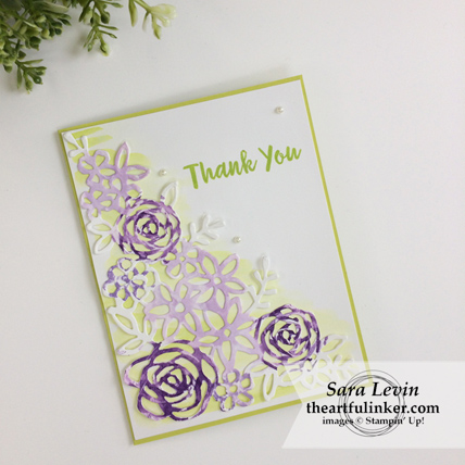 Abstract Impressions Royal Wedding inspired thank you card from theartfulinker.com