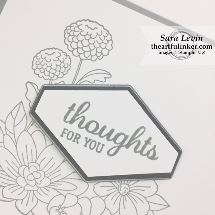 Accented Blooms Sympathy Card sentiment detail - from theartfulinker.com